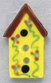 86173 - Yellow Birdhouse 1/2in x 7/8in - 1 per pkg